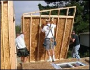 Standing Wall Panels, Courtesy Ca. Precut Homes