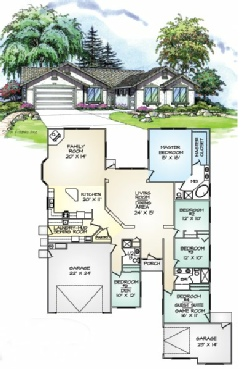 Silverton Floor Plan - Garage Right