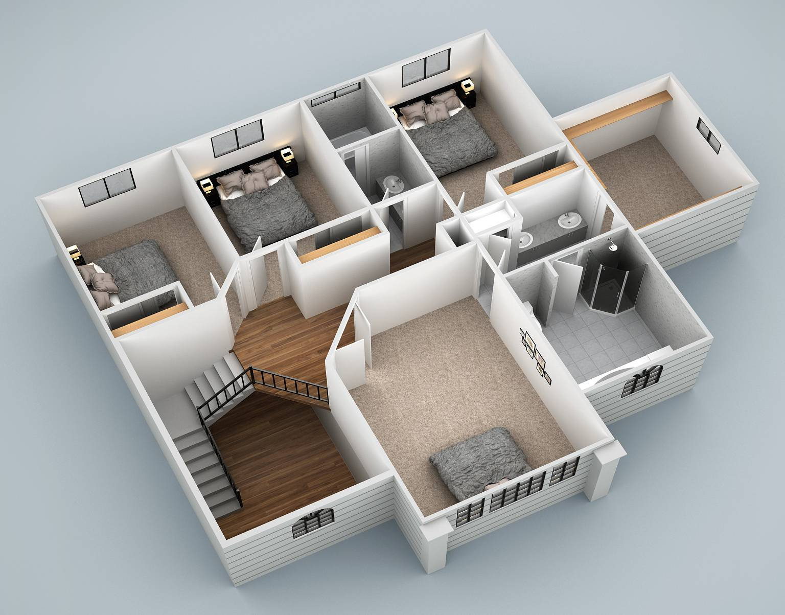springfield 3d first floor plan view revised 2